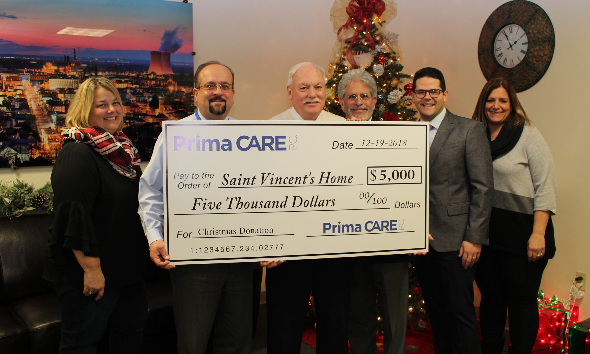 Prima CARE Raises $5,000 for Saint Vincent's